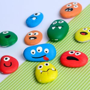 Painted Monster Rocks – Halloween Crafts for Kids