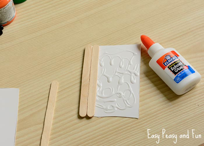 Popsicle Stick Pumpkin Craft Halloween Craft Easy Peasy