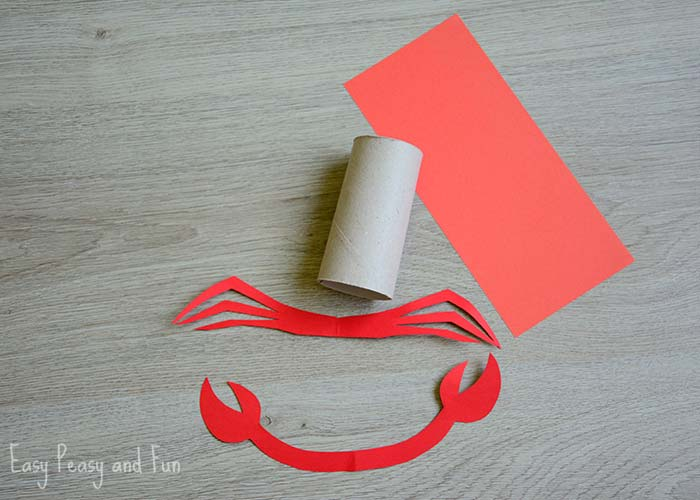 Paper Roll Crab Craft - Easy Peasy and Fun