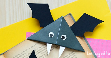diy bat corner bookmarks diy bat corner bookmarks crafts easy peasy 4226