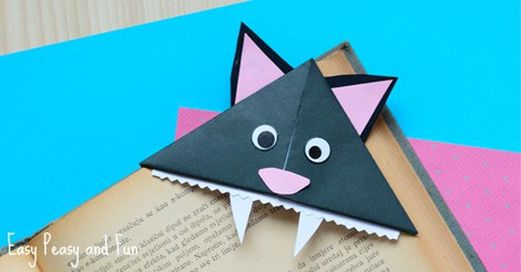 Cat Corner Bookmarks Halloween