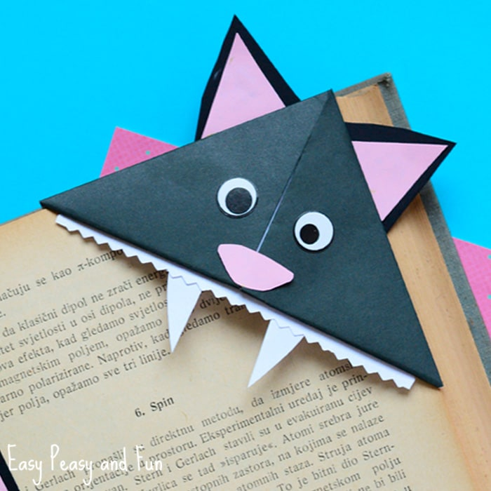 Cat Halloween Corner Bookmark
