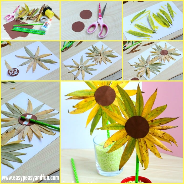 Cute Leaf Sunflower Craft - Perfect Fall Craft for Kids