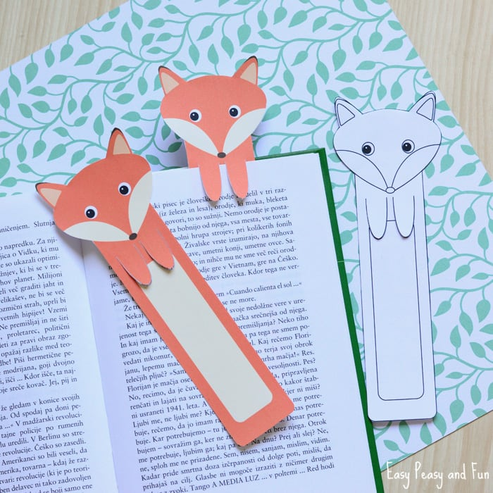 Printable Fox Bookmarks DIY Easy Peasy And Fun