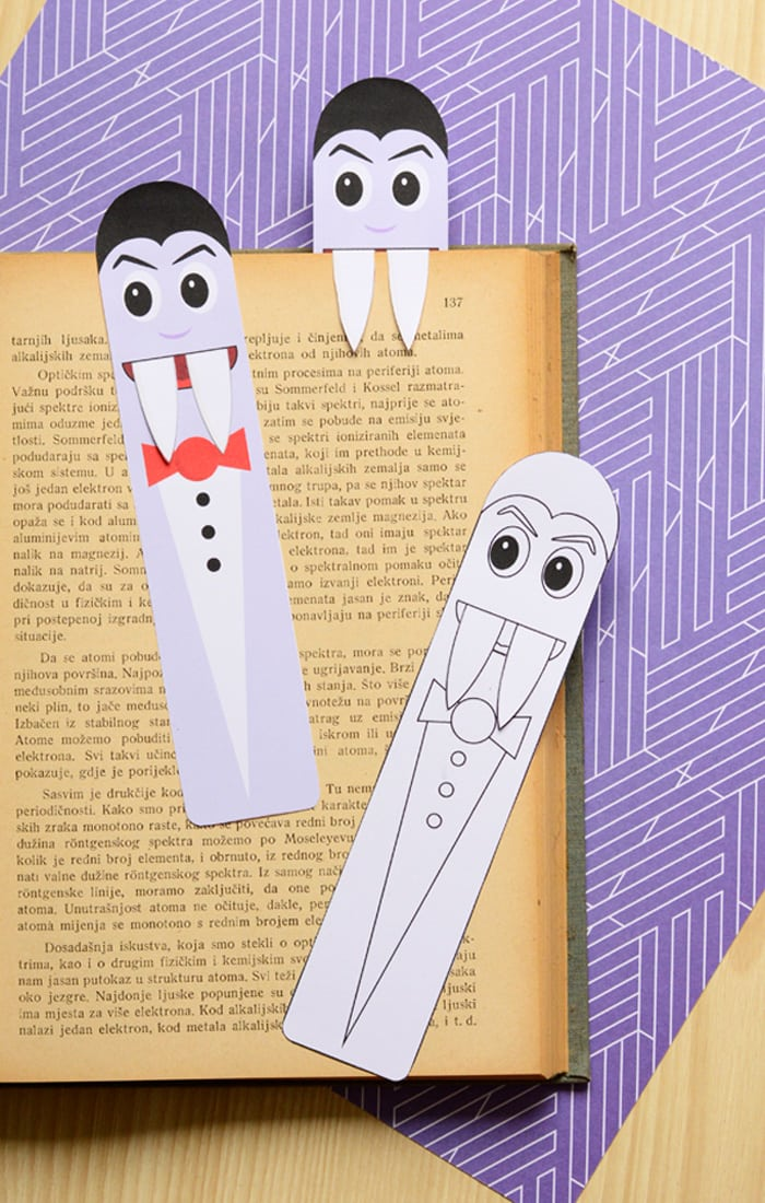 Free Printable Vampire Bookmarks for Kids