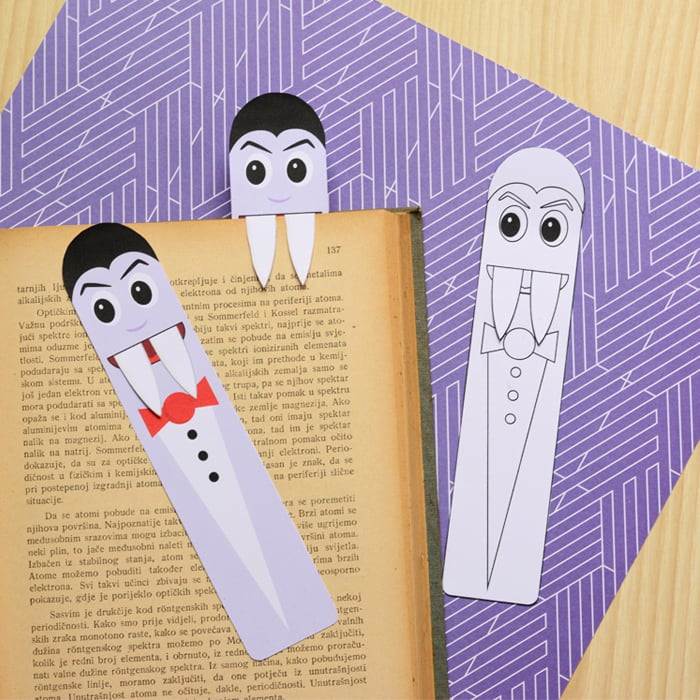 graphic about Cute Bookmarks Printable known as Printable Vampire Bookmarks - Do it yourself Bookmarks - Simple Peasy and Exciting