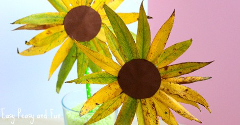 Leaf Sunflower Craft Fall Crafts For Kids Easy Peasy