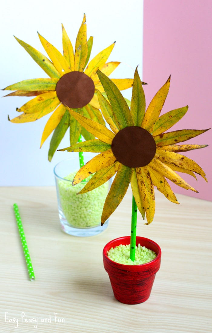 Adorable Leaf Sunflower Craft - Perfect for Preschool and Kindergarten