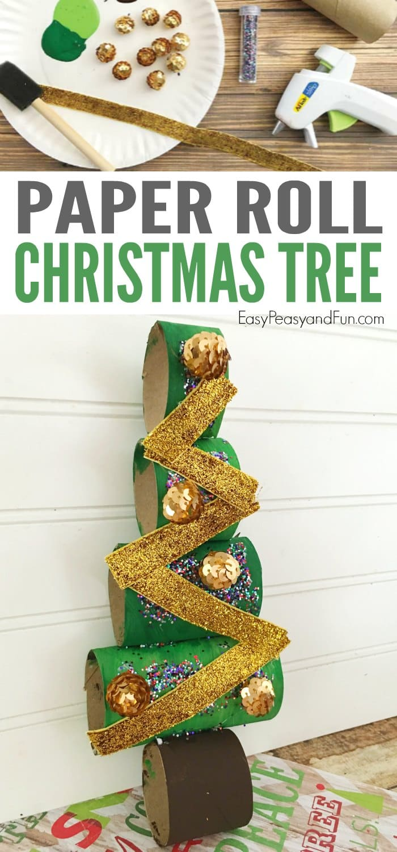 Paper Roll Christmas Tree Craft