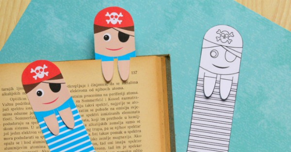 Printable Pirate Bookmarks DIY