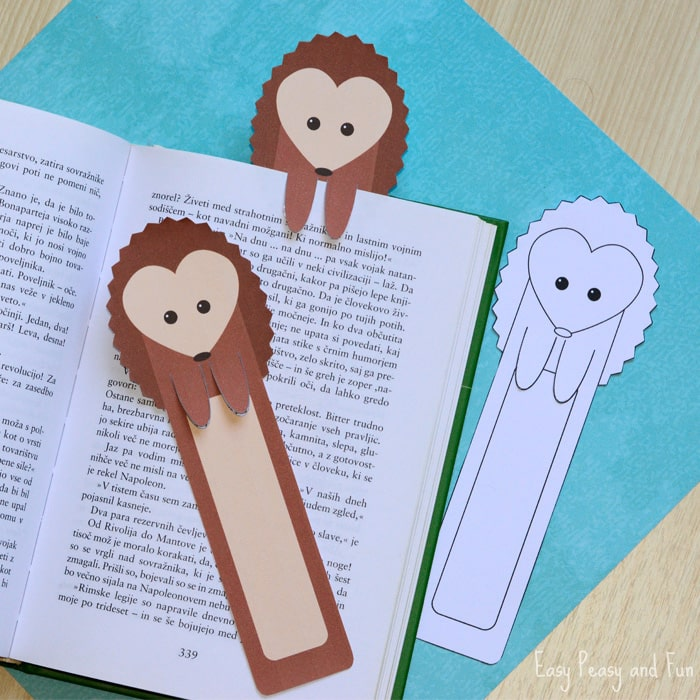 Printable Hedgehog Bookmarks Easy Peasy And Fun