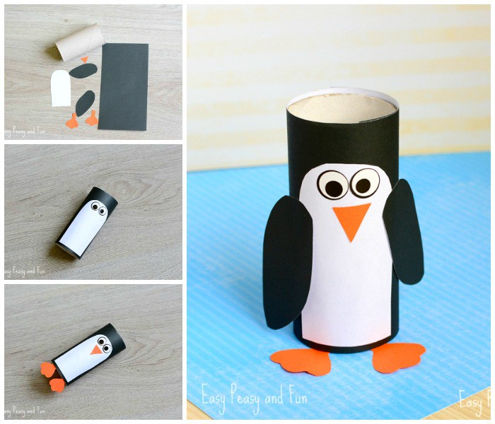 TP Paper Roll Penguin Craft