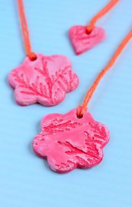 Simple Textured Clay Ornaments Kids Can Make