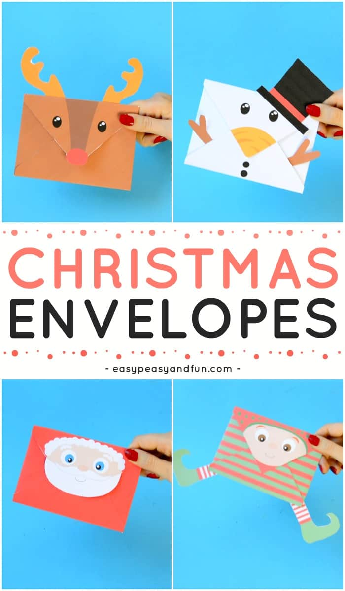 Adorable Christmas Printable Envelopes for Kids to Make. Such a fun Christmas activity for kids at home or in classroom.