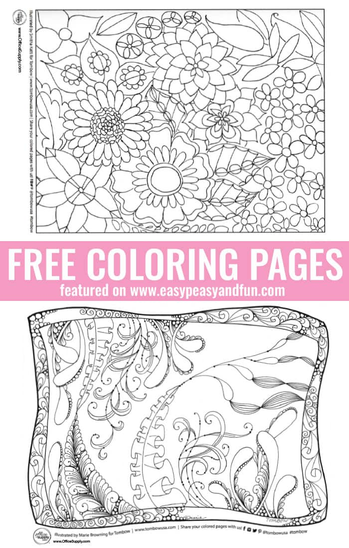 Awesome Free Coloring Pages - Beautiful Intricate Designs