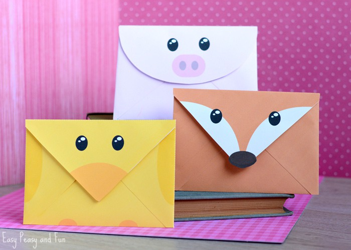 Chick Fox and Pig Envelopes