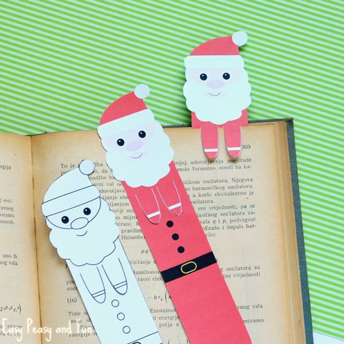 Printable Santa Bookmarks Christmas Printables