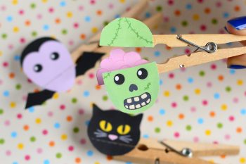 Clothespin Zombie Puppet Craft – Halloween Crafts for Kids