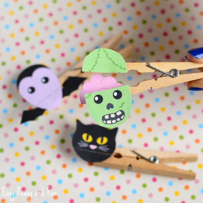 Clothespin Zombie Puppet Craft Printable