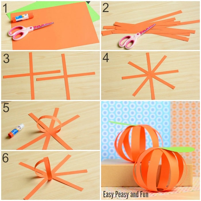 Cute Paper Pumpkin Craft for Little Ones