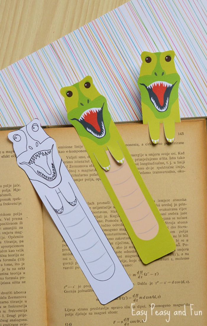 free printable dinosaur bookmark