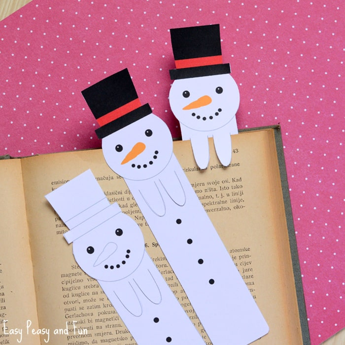 photograph relating to Free Printable Snowman referred to as Printable Snowman Bookmarks - Simple Peasy and Entertaining