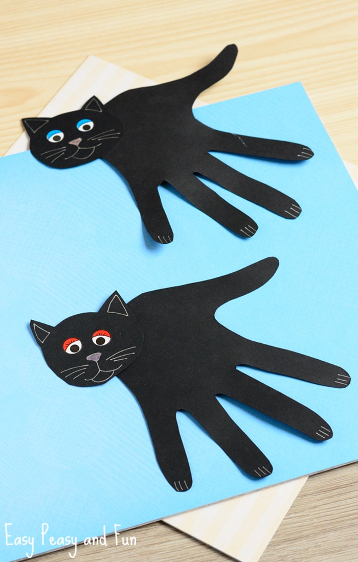 handprint black cat craft easy peasy and fun