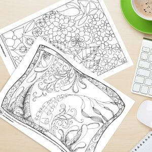 Gorgeous Free Coloring Pages for Adults and a Chance to Win Tombow Markers