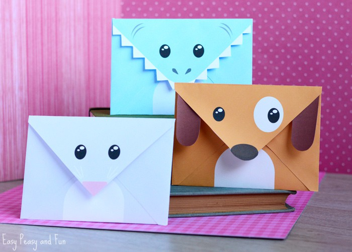 Mouse Dog and Shark Envelopes