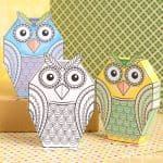 Owl Paper Toys to Color
