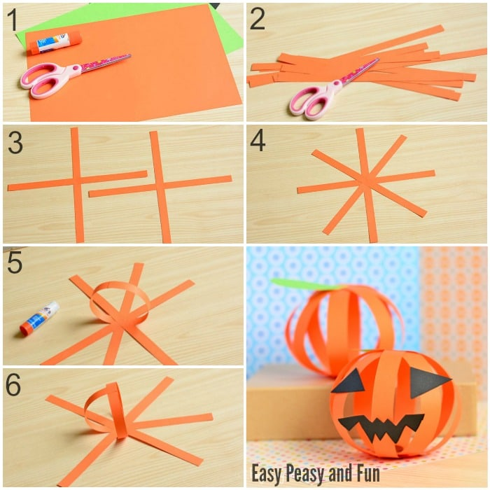 paper jack olantern paper pumpkin craft easy peasy and 2626