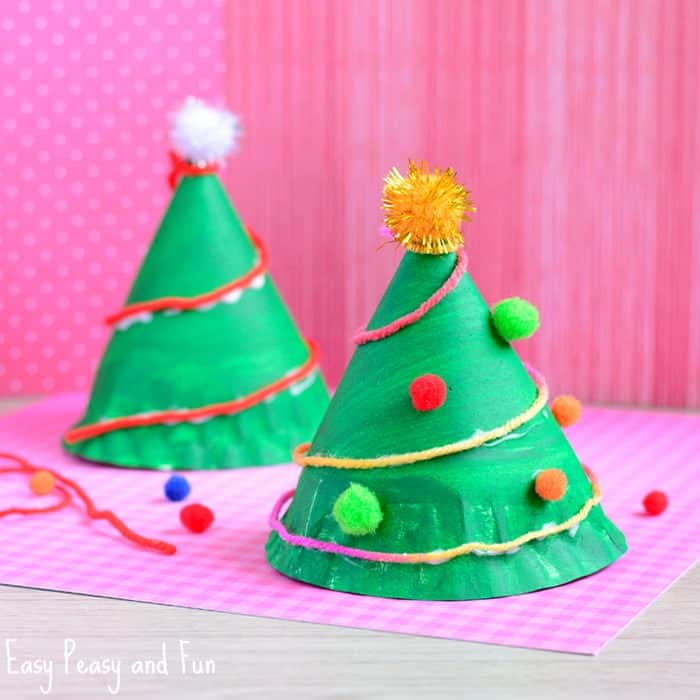 40 Christmas Craft Ideas To Try This Year: Paper Plate Christmas Tree Craft