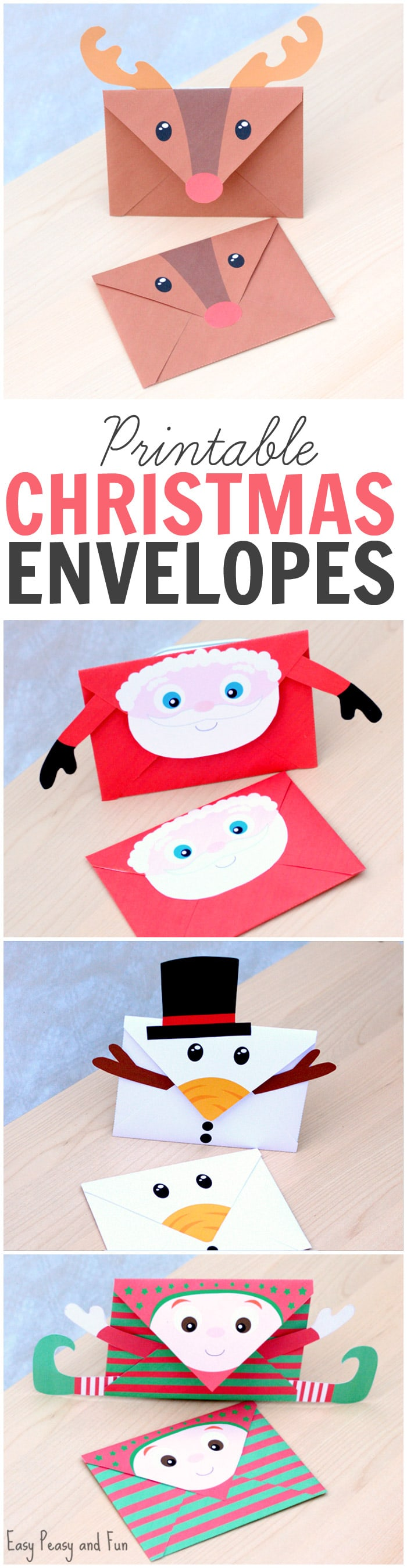 photograph regarding Printable Santa Envelopes identify Printable Xmas Envelopes - Simple Peasy and Enjoyable