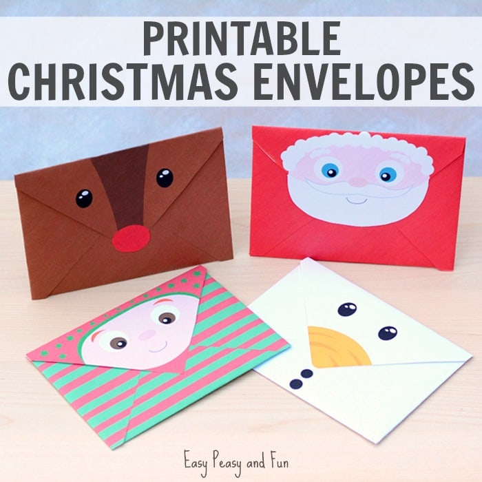 graphic about Printable Christmas Images known as Printable Xmas Envelopes - Uncomplicated Peasy and Entertaining