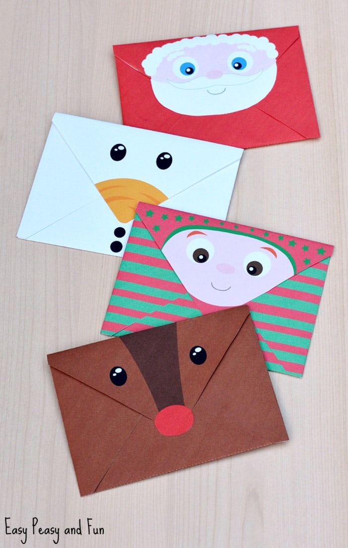 picture regarding Printable Santa Envelopes called Printable Xmas Envelopes - Uncomplicated Peasy and Entertaining