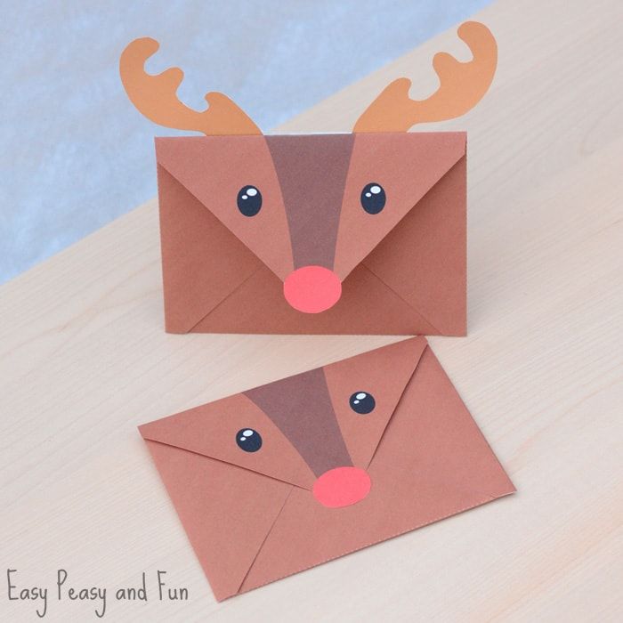 Printable Reindeer Envelope