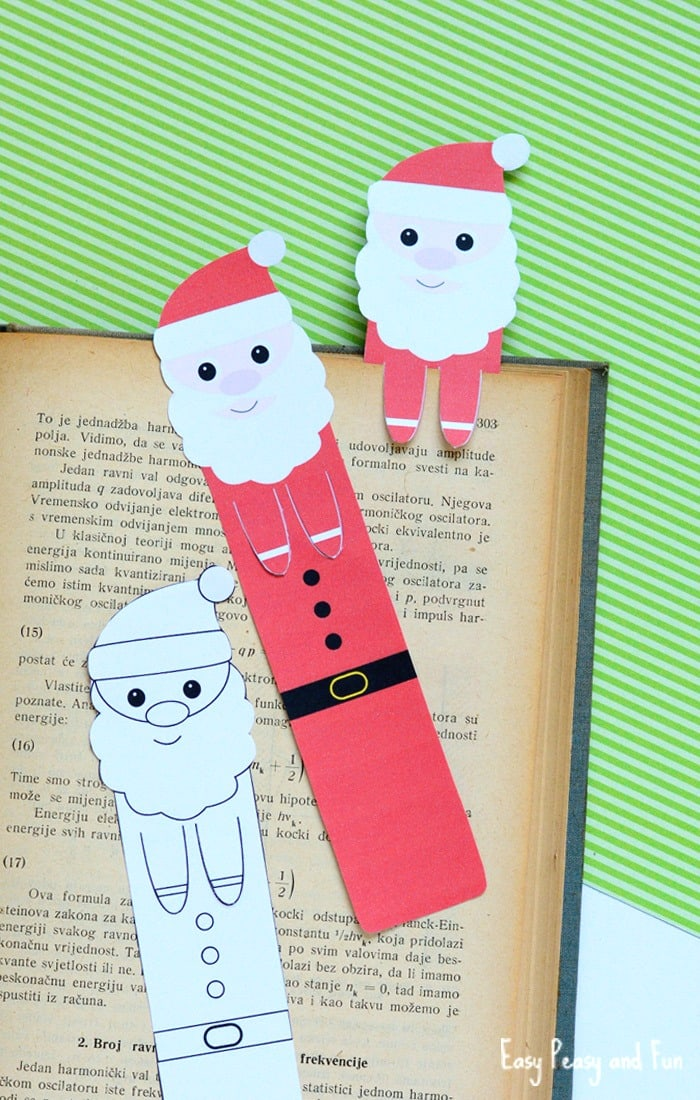 printable santa bookmarks
