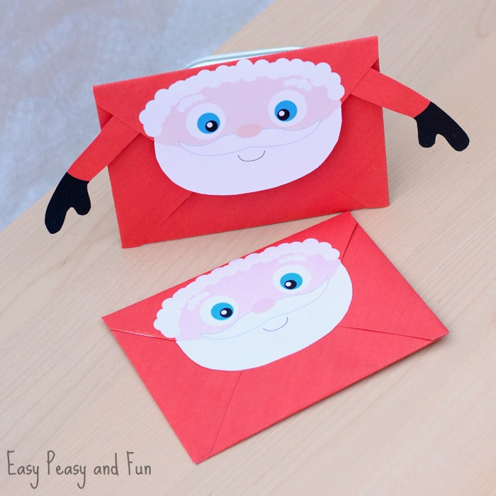 photograph relating to Printable Santa Envelopes referred to as Printable Xmas Envelopes - Basic Peasy and Enjoyable