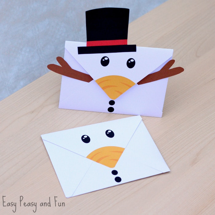 Printable Snowman Envelope