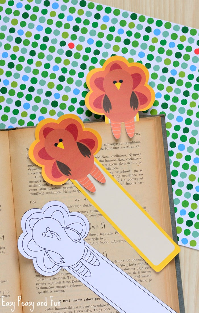 turkey corner bookmarks printable turkey bookmarks easy peasy and 3142