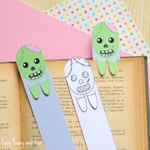 Printable Zombie Bookmark