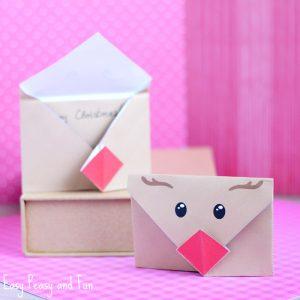 Printable Reindeer Origami Envelope