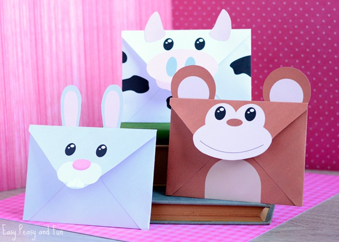 printable silly animals envelopes easy peasy and fun