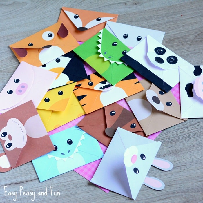 Printable silly animals envelopes easy peasy and fun for How to make winter crafts