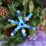 Snowflake Ornament - Christmas Ornaments Kids Can Make