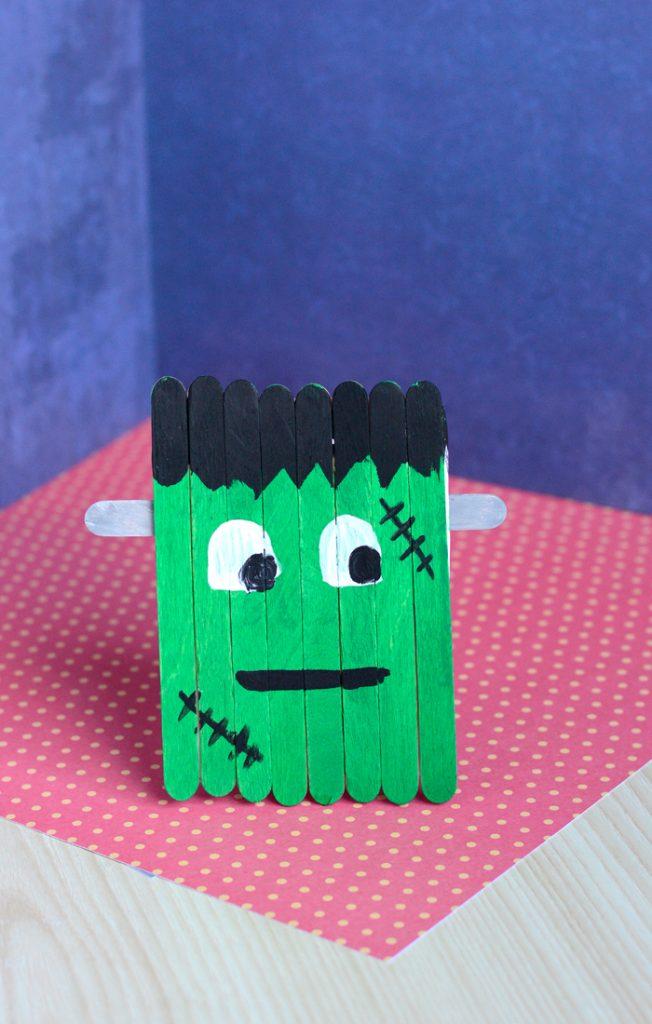Craft Stick Frankenstein Craft Easy Peasy And Fun