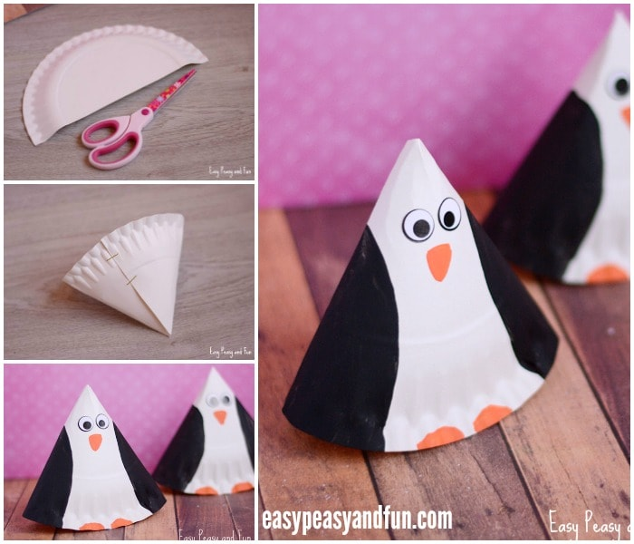 Adorable Paper Plate Penguin Craft for Kids
