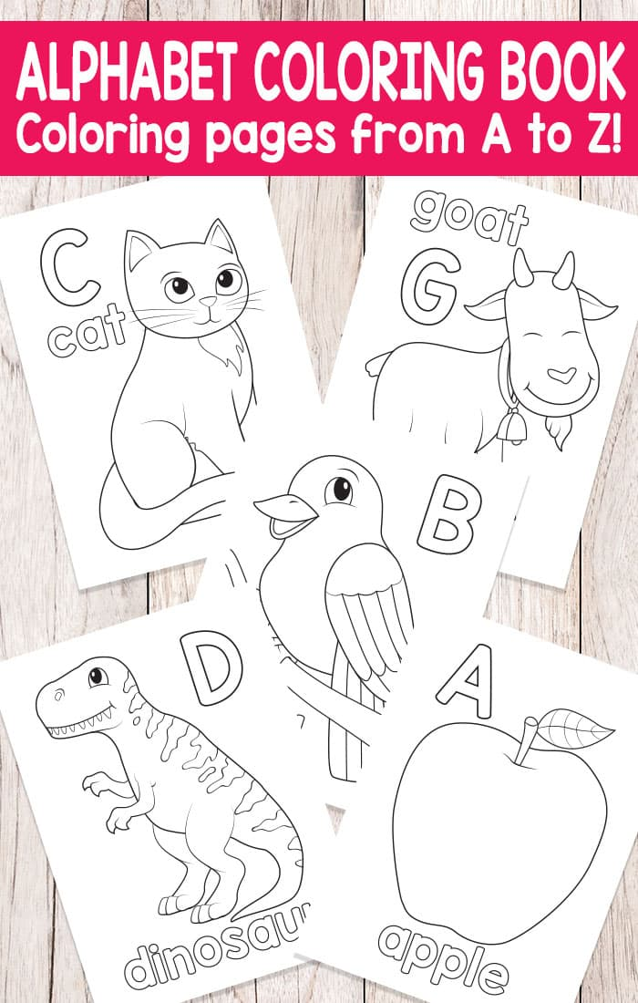 Alphabet Coloring Book - Fun alphabet coloring pages