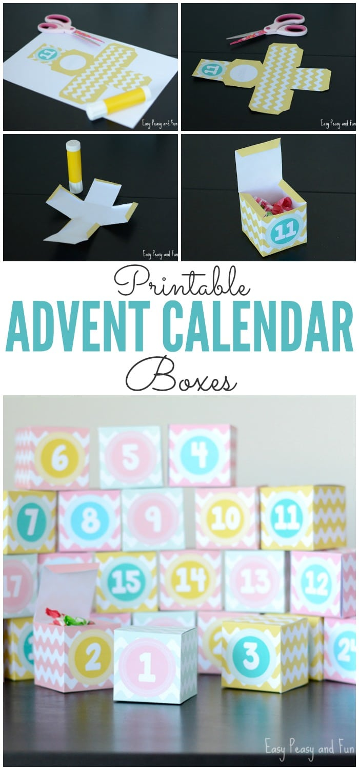 Beautiful Printable Advent Calendar Boxes