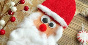 Christmas Craft - Santa made with craft sticks